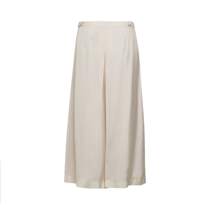 Laurie Wide Leg Culottes In Pearl