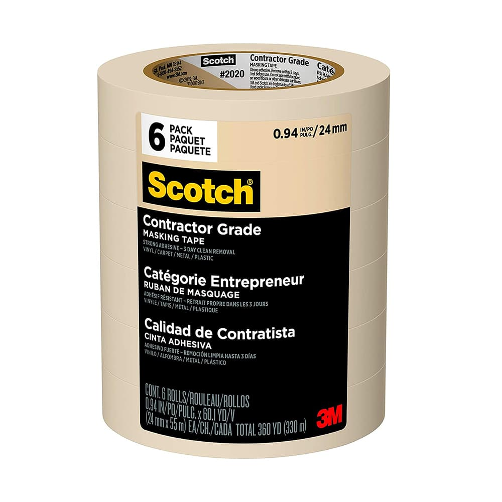 3M Contractor Grade Masking Tape 6 Pack, available at Kelly-Moore Paints for Contractors.