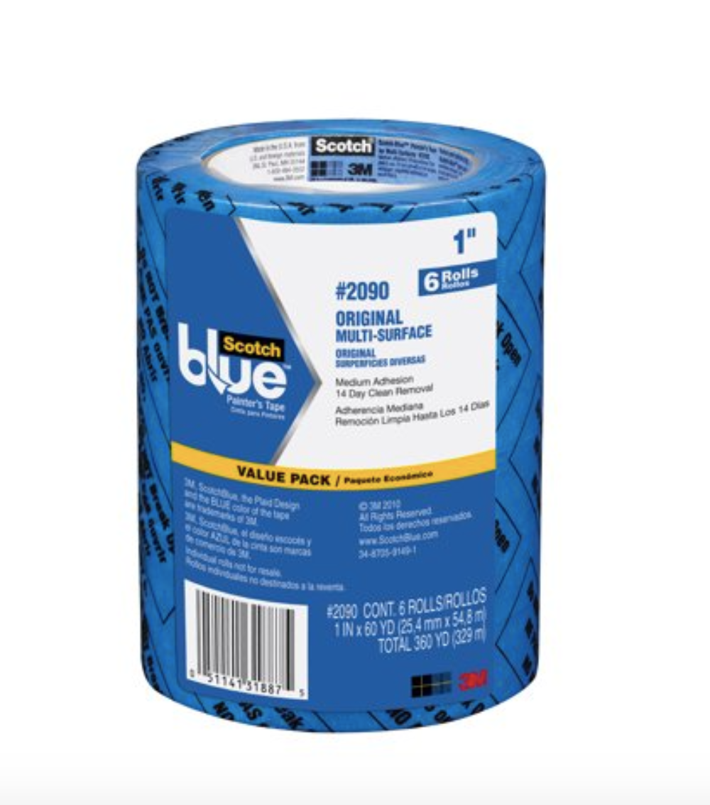 "3M 1"" Blue Masking Tape 6Pk, available at Kelly-Moore Paints for Contractors."