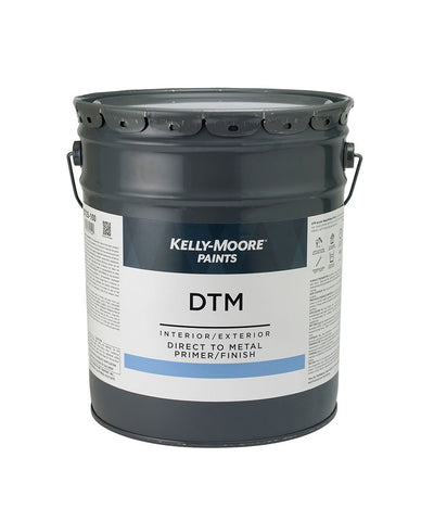 DTM Primer & Finish 5 Gallon Pail, available at Kelly-Moore Paints for Contractors.