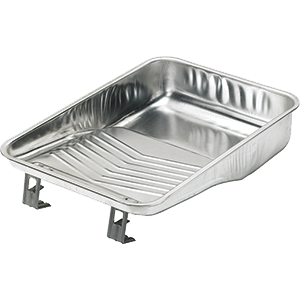"11""  2 Quart Metal Roller Tray, available at Kelly-Moore Paints for Contractors."