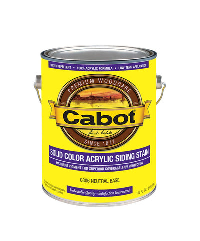 Cabot Solid Color Acrylic Siding Stain (Gallon)