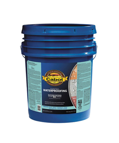 Cabot 1000 crystal clear waterproofing sealer, available at Kelly-Moore Paints for Contractors.