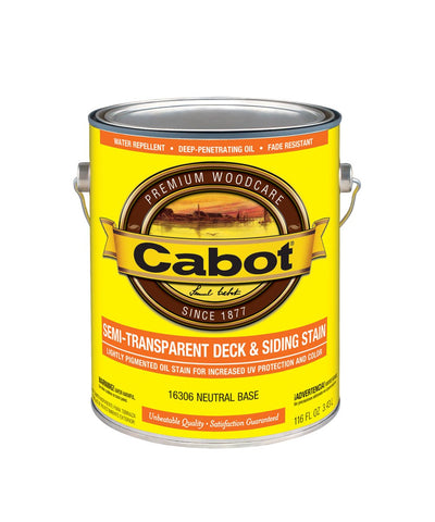 cabot semi transparent deck and siding oil stain gallon, available at Kelly-Moore Paints for Contractors.