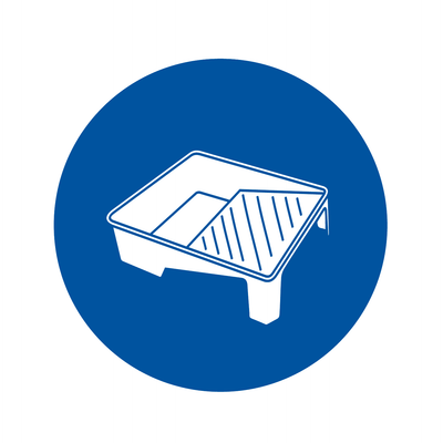 Paint tray icon. Contractors can shop all their paint tray needs at Kelly-Moore Paints.
