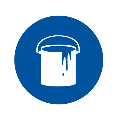 Gallon of paint icon. Contractors can shop all their interior, exterior and specialty paint needs, at Kelly-Moore Paints.