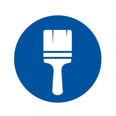 Paint brush icon. Contractors can shop all their paint brush needs at Kelly-Moore Paints.