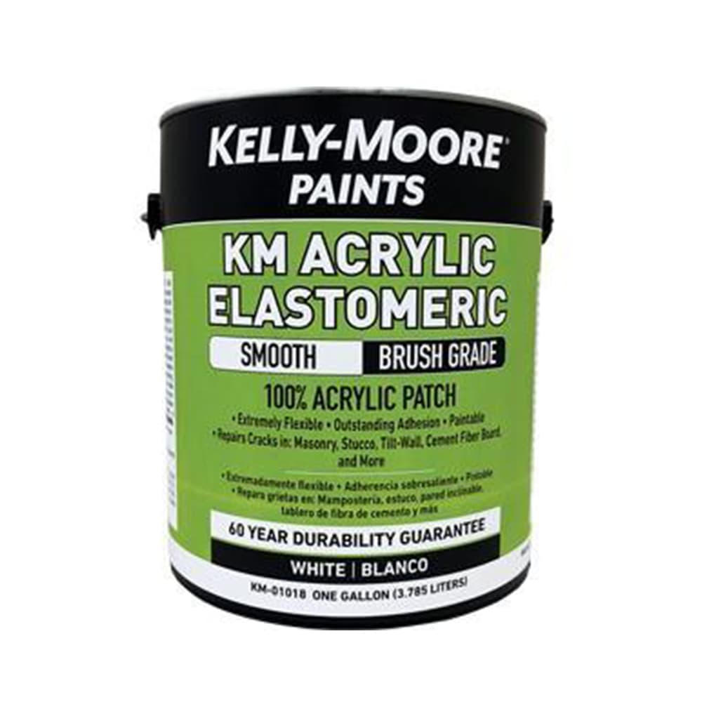 Kelly-Moore Acrylic Elastomeric Smooth Brush Grade, available at Kelly-Moore Paints for Contractors.