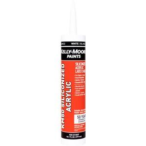 10.1oz Siliconized Acrylic Caulk, available at Kelly-Moore Paints for Contractors.