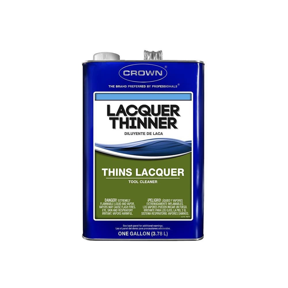 Lacquer Thinner Low VOC, available at Kelly-Moore Paints for Contractors.