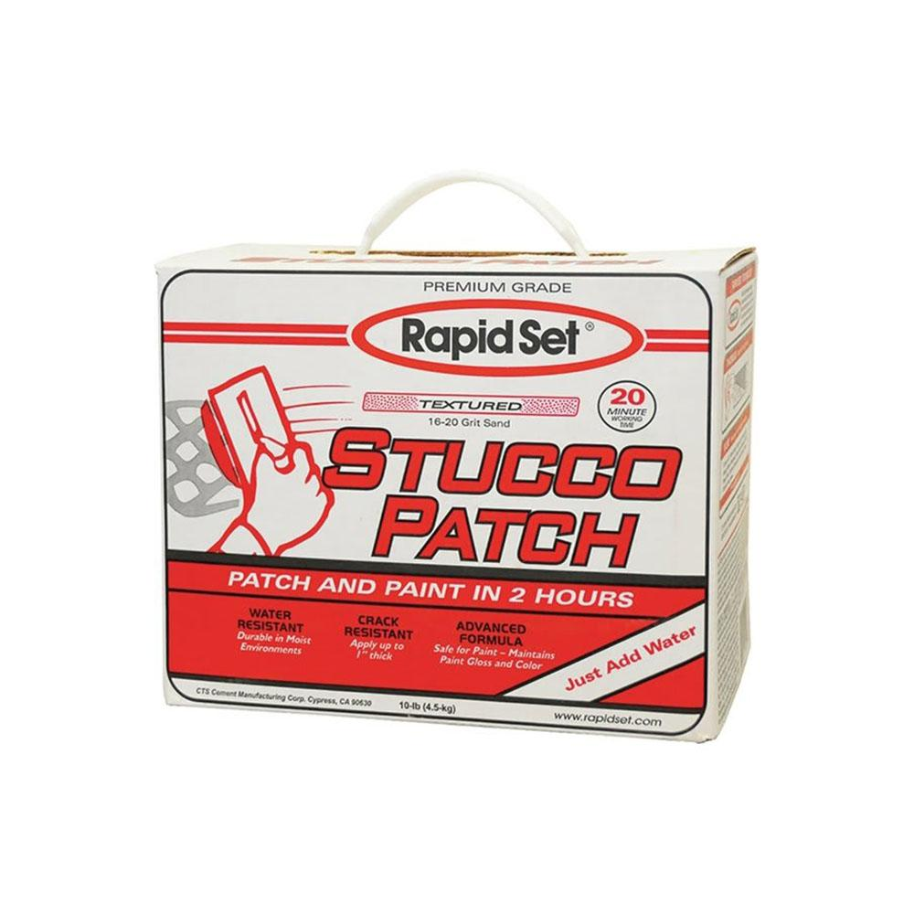 Rapid Set 10lb Stucco Patch Stucco Repair Material, available at Kelly-Moore Paints for Contractors.