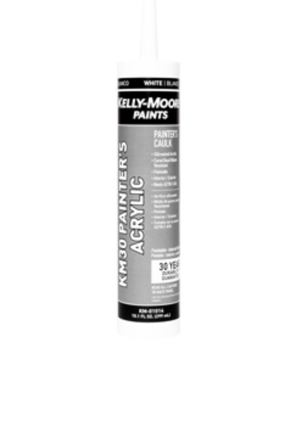 10.1oz White Acrylic Painters Caulking, available at Kelly-Moore Paints for Contractors.