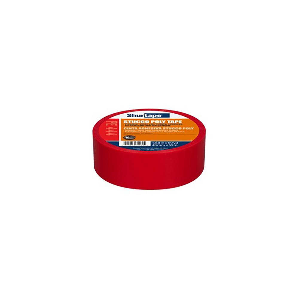 Red Stucco Tape 48mm x 55M, available at Kelly-Moore Paints for Contractors.
