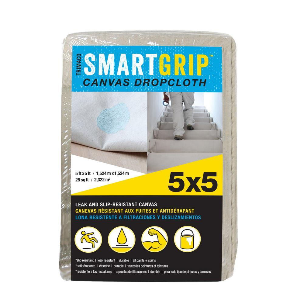 Smart Grip Canvas Dropcloth 5'x 5', available at Kelly-Moore Paints for Contractors.