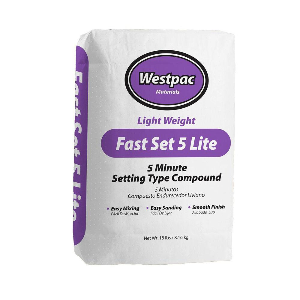 18Lb Bag Fast Set Lite 5 Min Joint Compound Powder, available at Kelly-Moore Paints for Contractors.