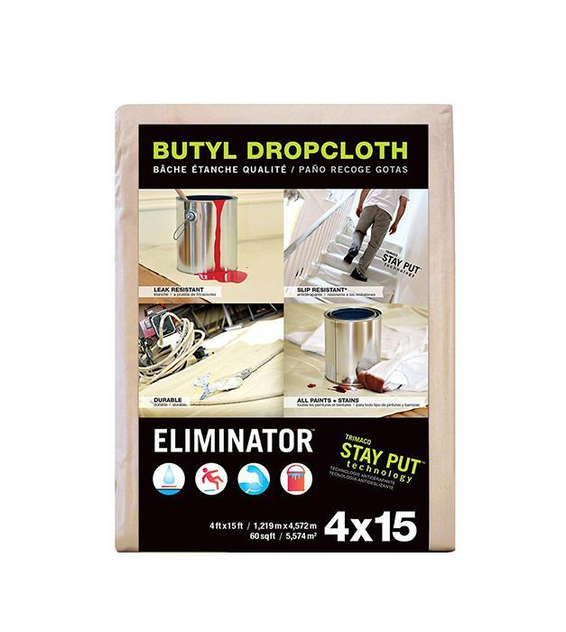 Trimaco Eliminator Butyl Drop Cloth, available at Kelly-Moore Paints for Contractors.