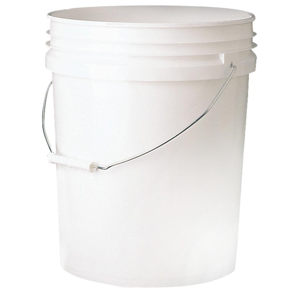5 Gallon Empty Bucket White Plastic Pail 0047-019, available at Kelly-Moore Paints for Contractors.