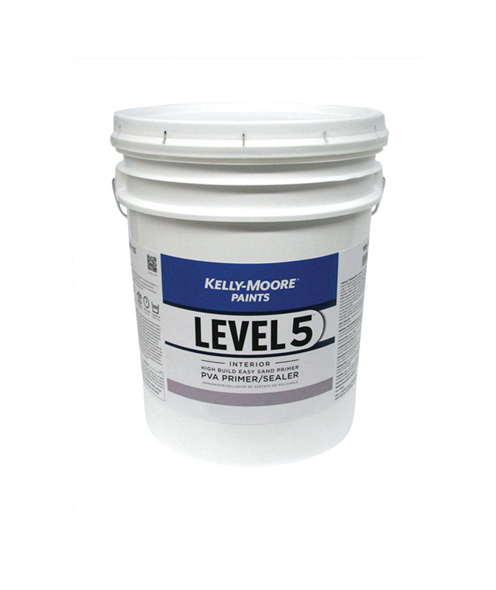 Level 5 Primer Pail, available at Kelly-Moore Paints for Contractors.