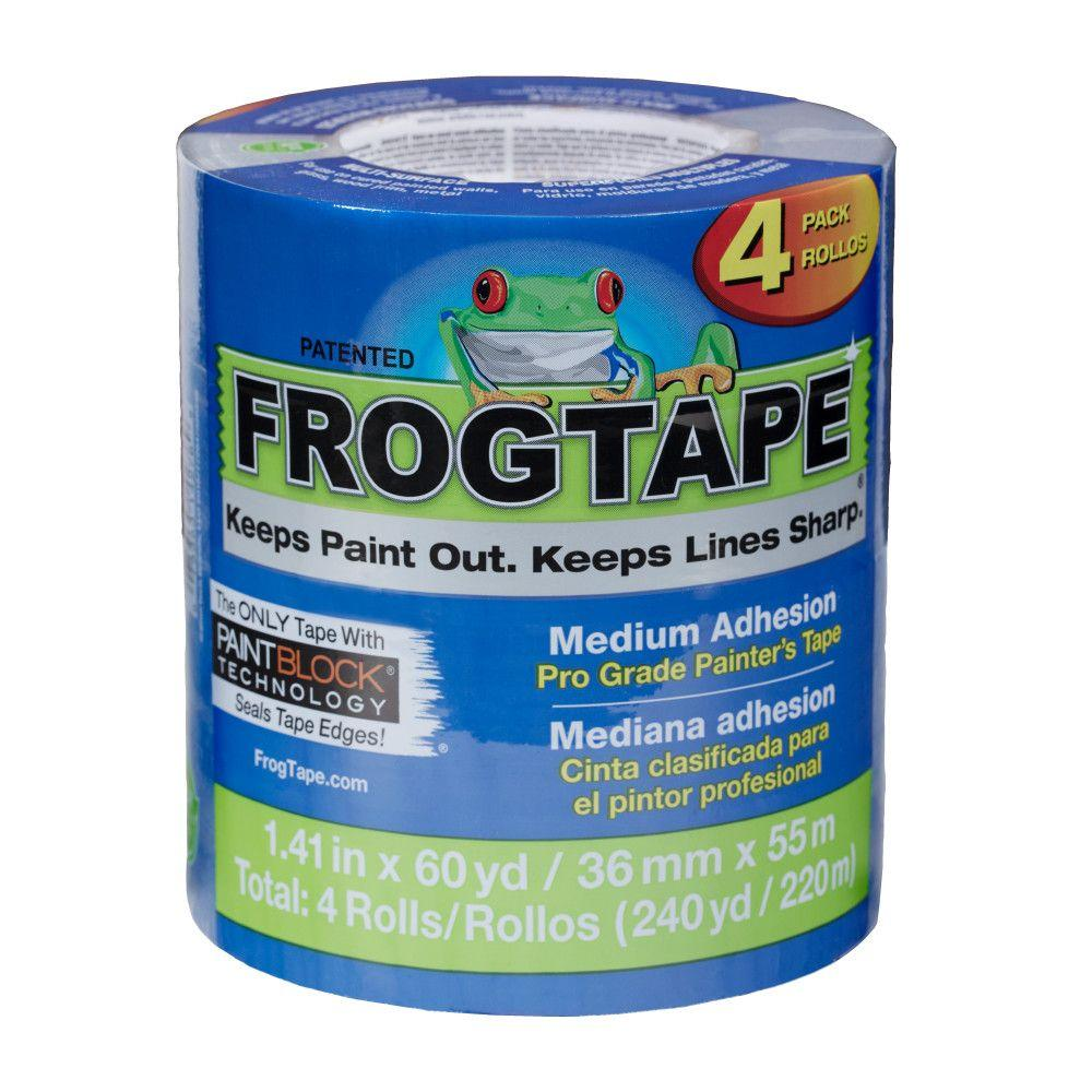 "FrogTape Blue Pro 1.5"" x 60 4-Pack, available at Kelly-Moore Paints for Contractors."