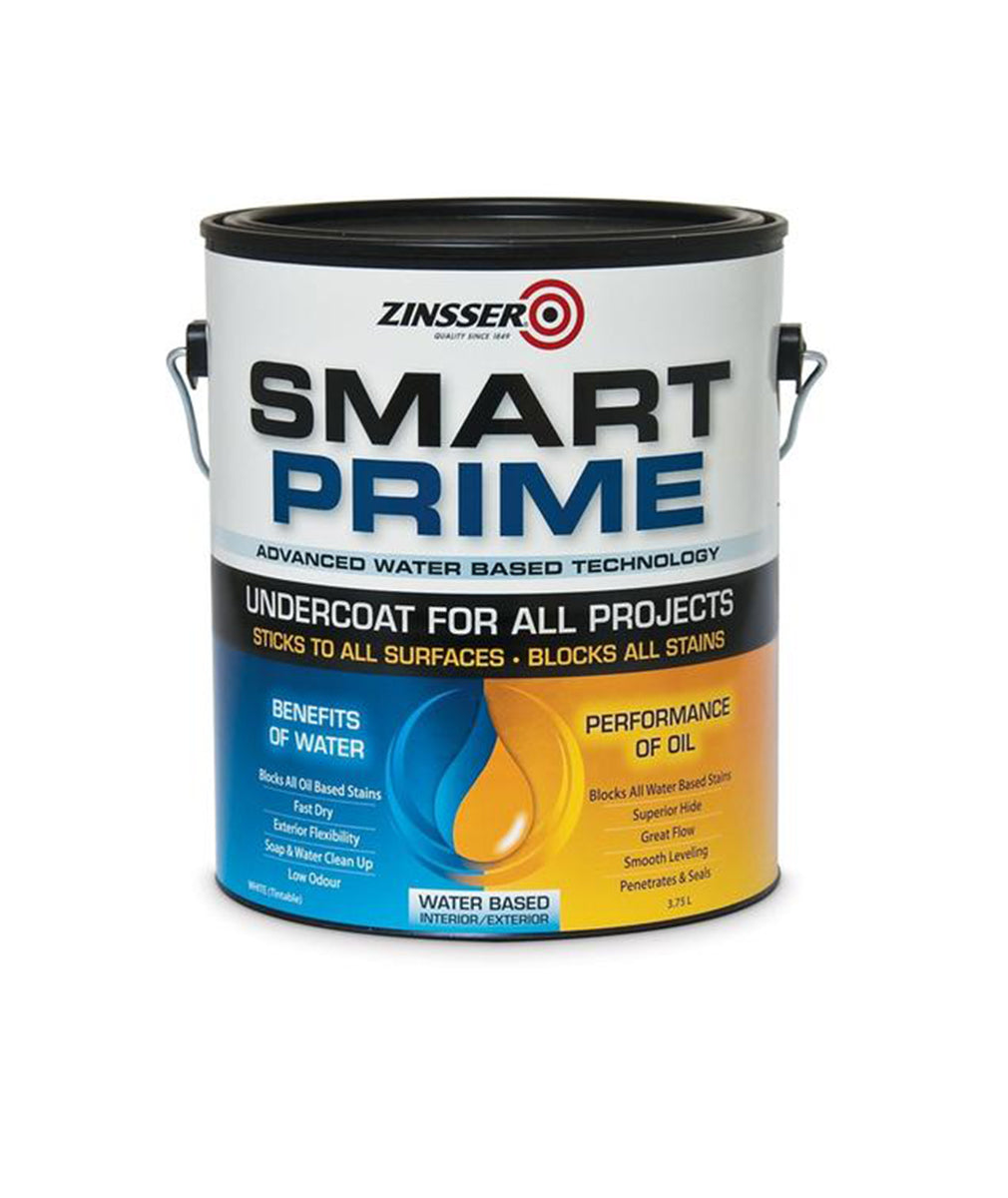Zinsser Smart Prime White Universal Primer Gallon, available at Kelly-Moore Paints for Contractors.