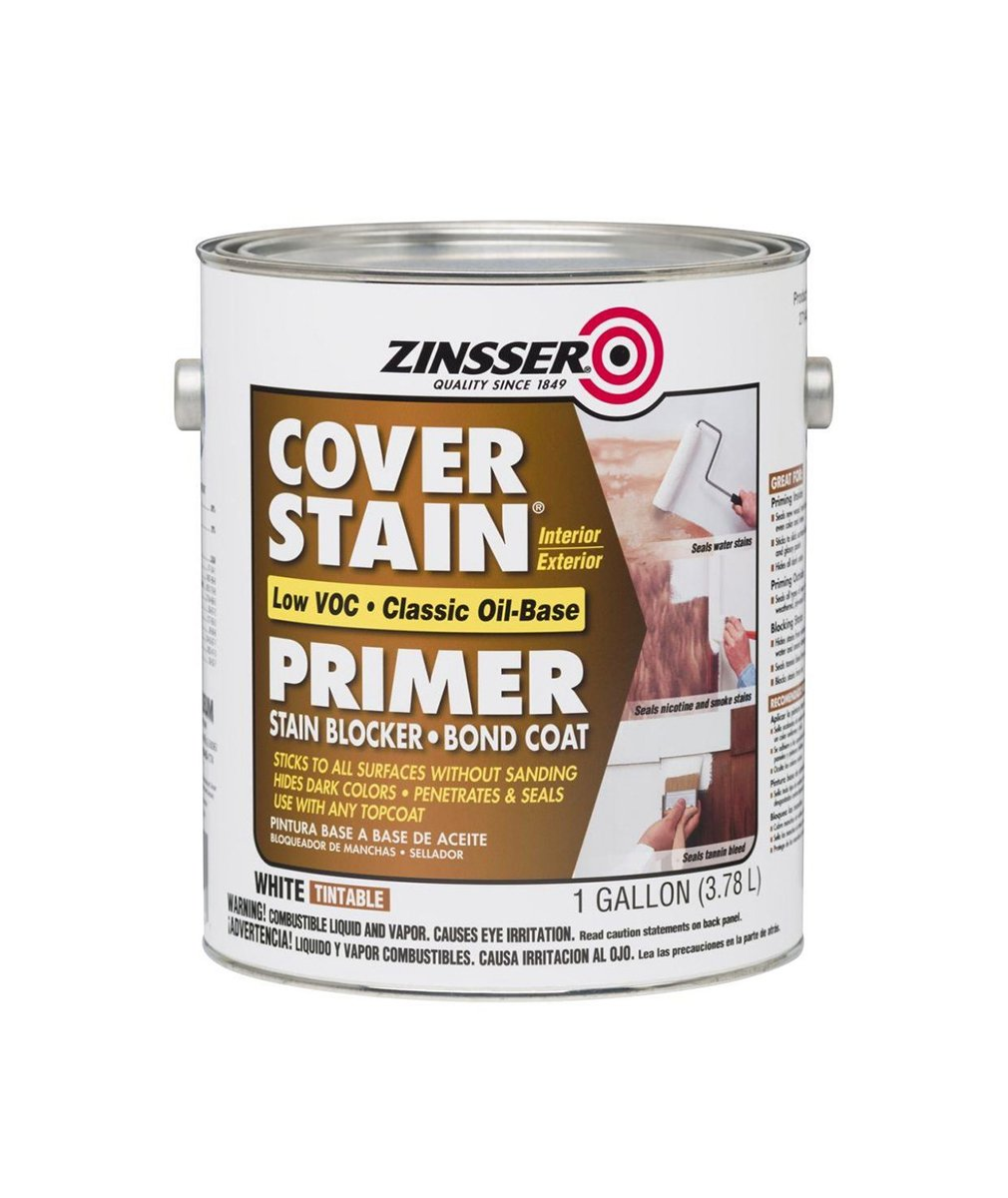 Zinsser Cover Stain Primer & Sealer gallon, available at Kelly-Moore Paints for Contractors.