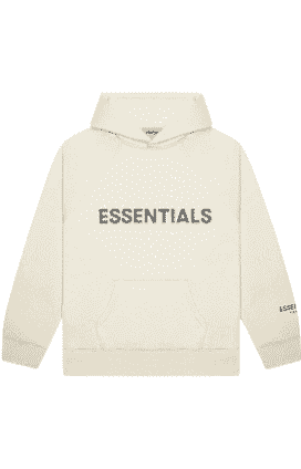 FEAR OF GOD ESSENTIALS PULLOVER HOODIE BUTTERCREAM