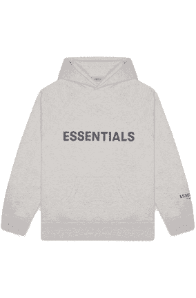 FEAR OF GOD ESSENTIALS 3D Silicon Applique Pullover Hoodie Heather Oatmeal