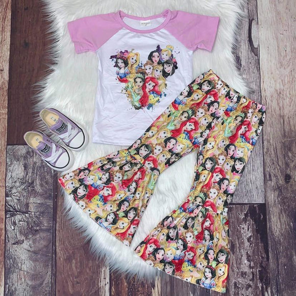 Princess Heart Raglan with Printed Bells