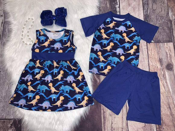 Dinosaur Printed Dress