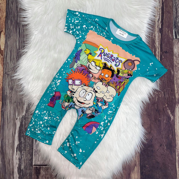 Bleach Splatter T-Shirt Rompers-Rugrats