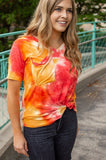Sunrise Tie Dye Slouchy Pocket Tee