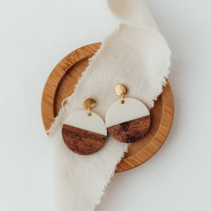 Wooden Circle - Ohrringe - So Loved Manufacture