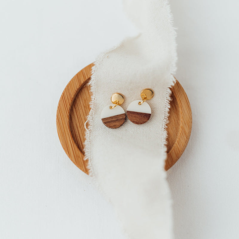 Wooden Circle Small - Ohrringe - So Loved Manufacture