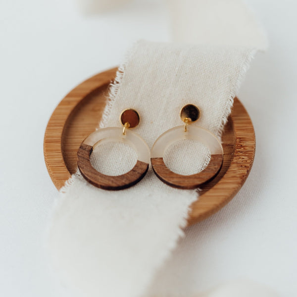 Wooden Circle (with cutout) - Ohrringe - So Loved Manufacture
