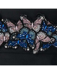 Olga Berg AUDREY Butterfly Foldover Clutch