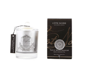 Côte Noire Soy Blend Candle - French Morning Tea 185g Silver