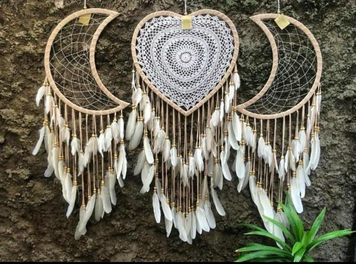 Dream Catchers Moon & Heart