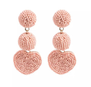 Morgan Beaded Heart Earrings