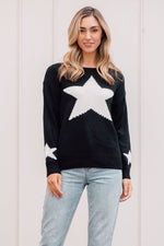 Load image into Gallery viewer, Black Star Jumper