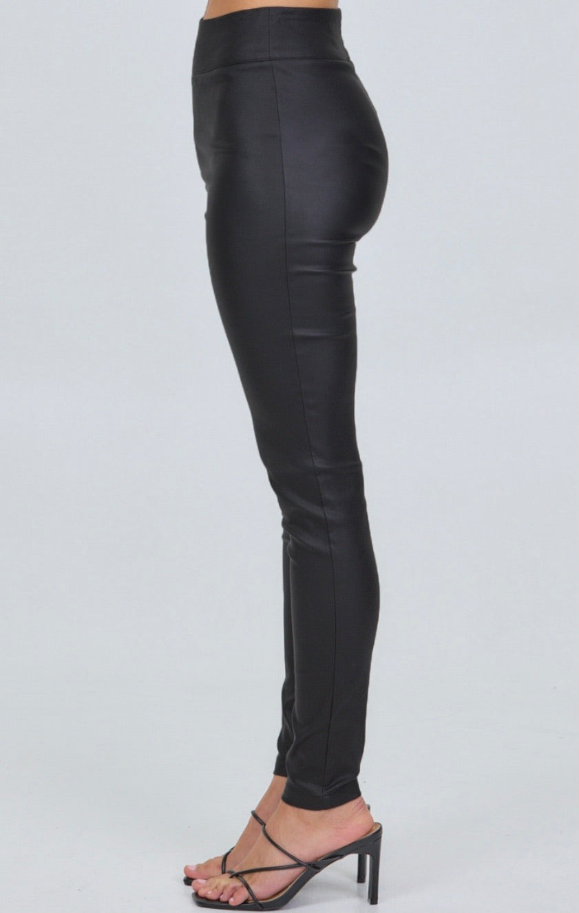 High Wasted Faux Leather Leggings