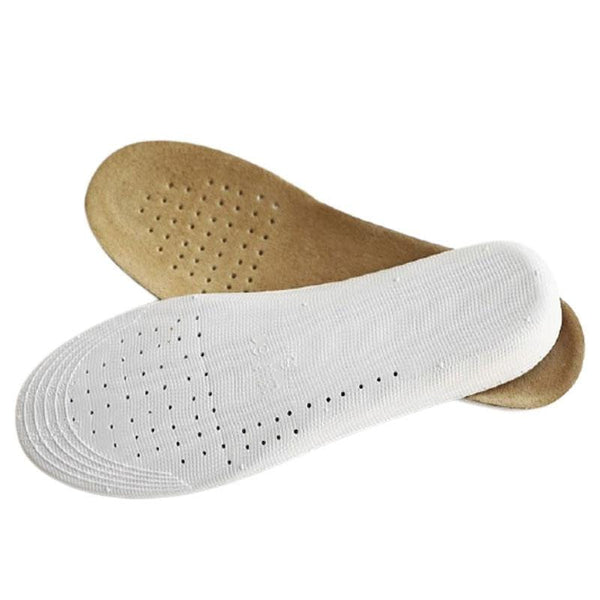 Leather Insoles with Breathable Activated Carbon Bottom Height 1-3cm Unisex
