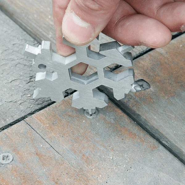 15-in-1 Stainless Snowflake Multi-tool