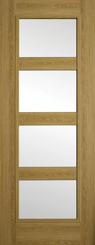 Shaker 4P Luxury Laminate Limed Oak Clear Glass