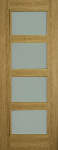 Shaker 4P Luxury Laminate Limed Oak Opal Lam Glass