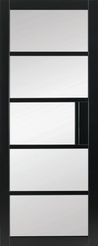 Mayfair Crittall Clear Glass Primed Black