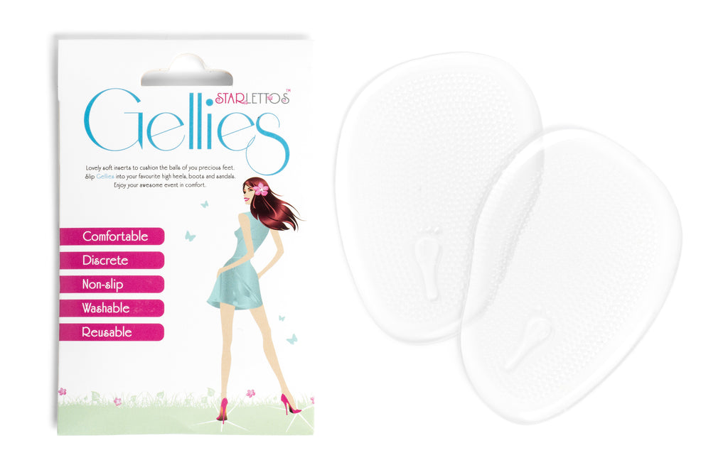 Gellies - Discreet, Breathable Ball of Foot Cushions Designed for High Heels