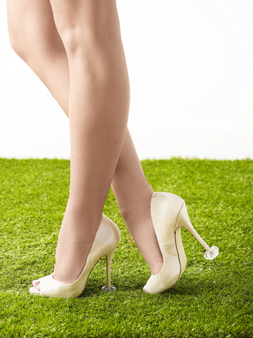 'Sparkle' Heel Protectors - Clear with Glitter
