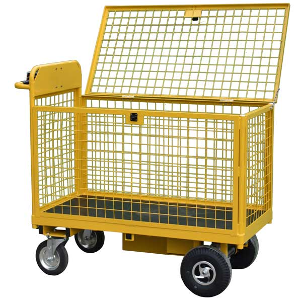 POWERED SECURE RECORDS TROLLEY