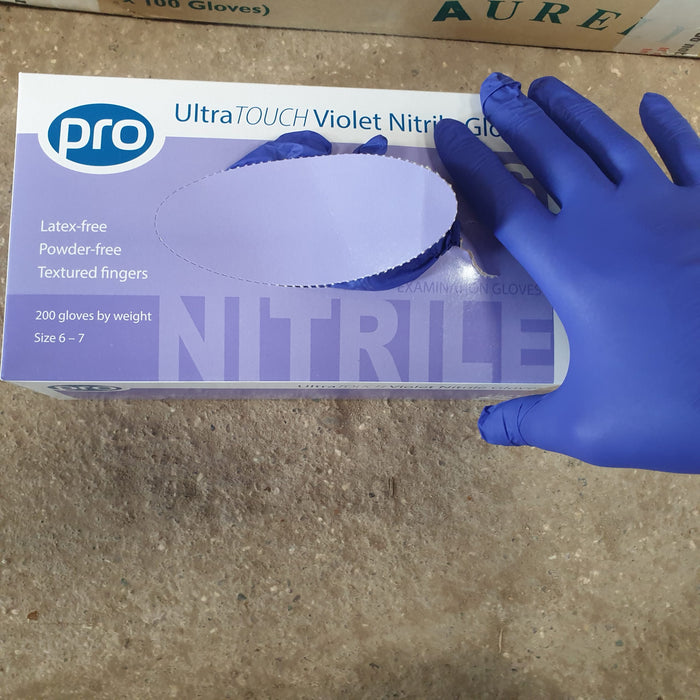 DISPOSABLE NITRILE GLOVE – XS, COLOUR VIOLET – BOX OF 200