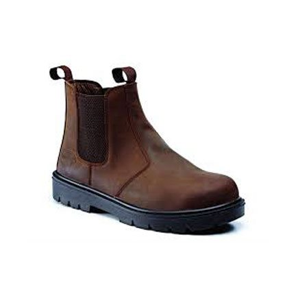 RUGGED TERRAIN DARK BROWN WAXY LEATHER CHELSEA BOOT